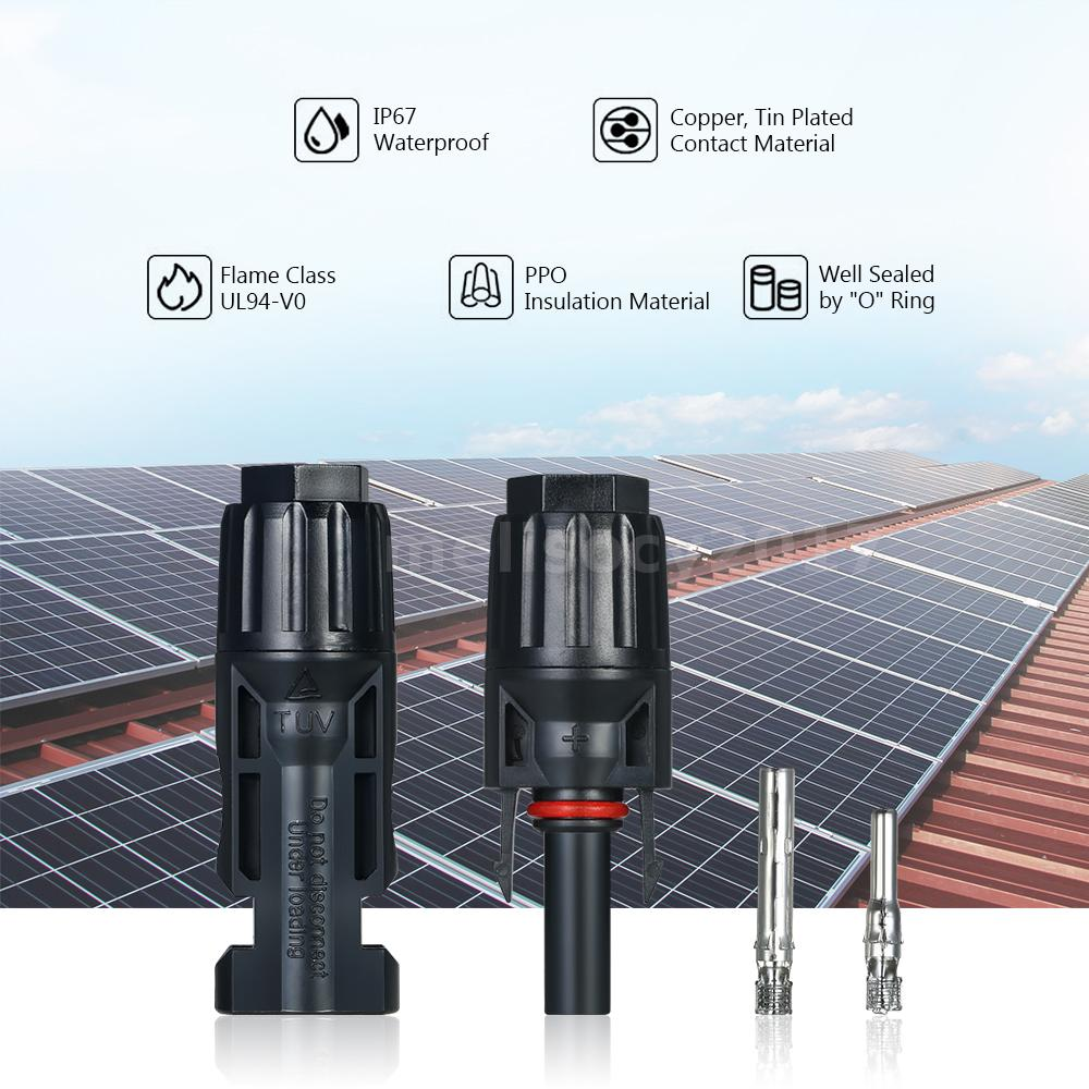 20 Pairs Mc4 Male Female Solar Panel Cable Connectors With Spanner Parallel Wiring Multiple These Are Style Which Used To Connect Panels Or Groups Of Together In A Field And Typically