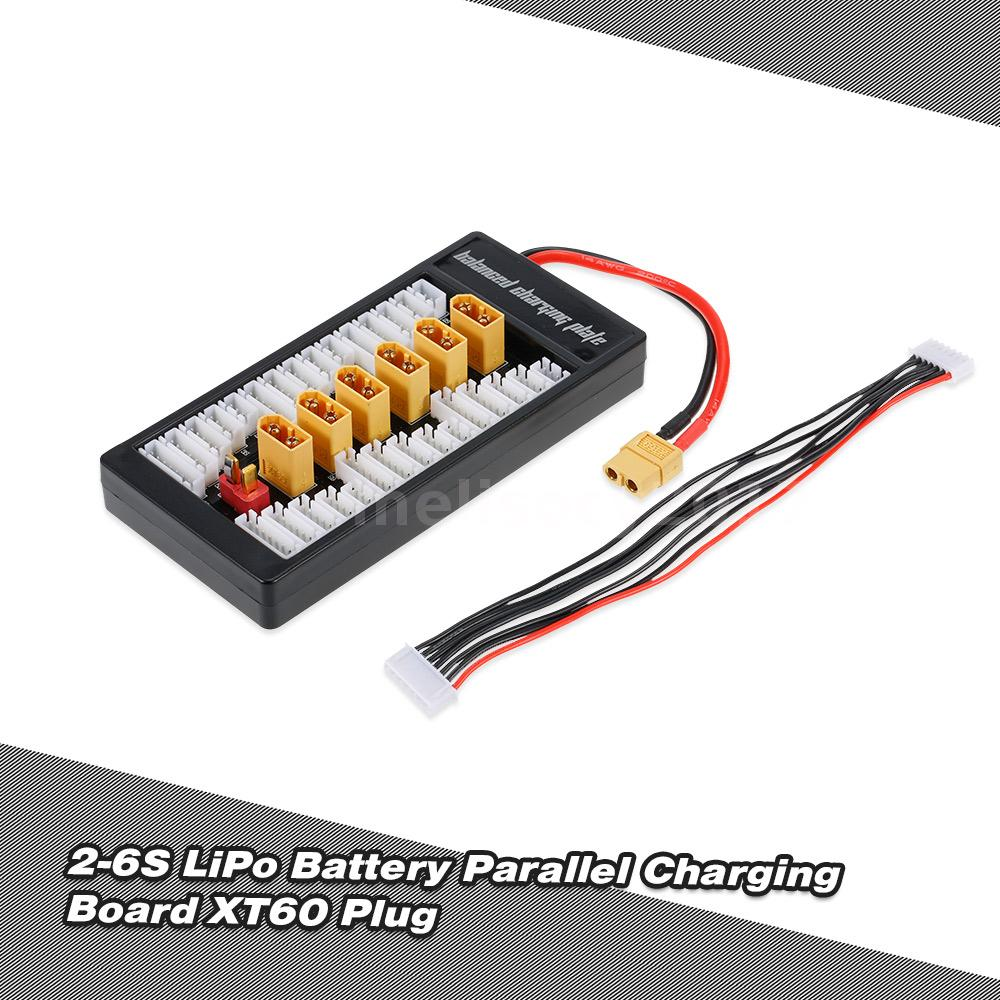 2 6s Lipo Battery Parallel Charging Adapter Board Xt60 Plug Balance Wiring Batteries This Product Is Used For Connecting And Simultaneously 1 To 6 In Parallelincluding The Life Li Ion